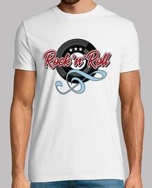 t-shirt musique rock n roll touche de vinyle soleil