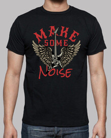 t-shirt musique rock vintage guitare rock and roll