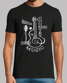 t-shirt nashville americano musica country usa