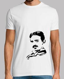 t-shirt nera nikola tesla