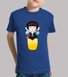t-shirt nin @ kokeshi biancaneve