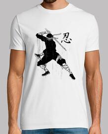 t-shirt ninja shinobi - cultura kanji giapponese