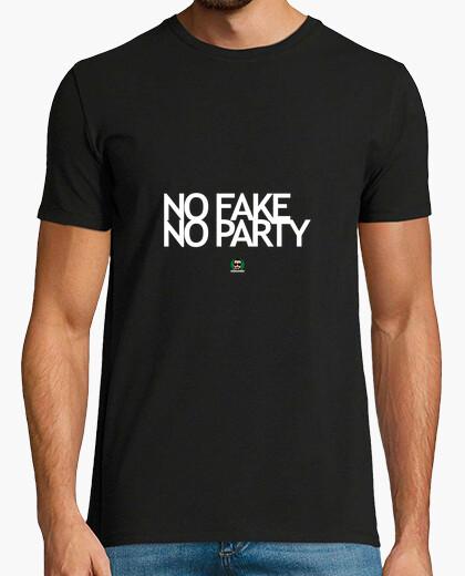 T-shirt No Fake No Party con Logo