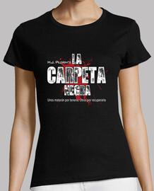 t-shirt noir dossier,  femme