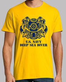 t-shirt nous marine plongeur mod.1-3 profonde
