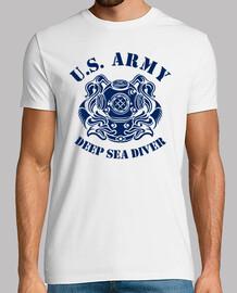 t-shirt nous marine plongeur mod.2-3 profonde