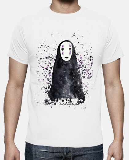 t-shirt of man without face the trip of chihiro