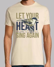 t-shirt oiseau oiseau chantant des messages