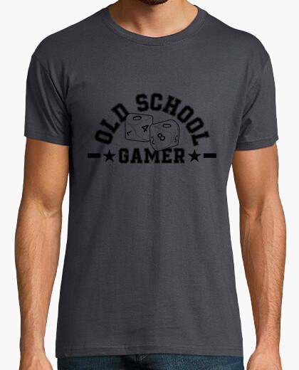 T-shirt old school giocatore nero