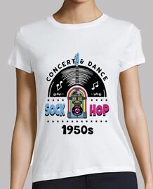 t-shirt pantalone vintage anni '50 rockabilly