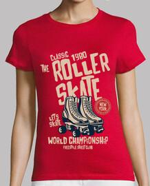 t-shirt patins a roulettes patins vintage retro