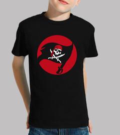 t-shirt per bambini - bandiera pirata jolly roger