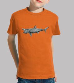 t-shirt peregrine shark (cetorhinus maximus)