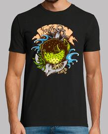 t-shirt pesce palloncino tattoo ancora marinaio tatuaggio vintage marinaio