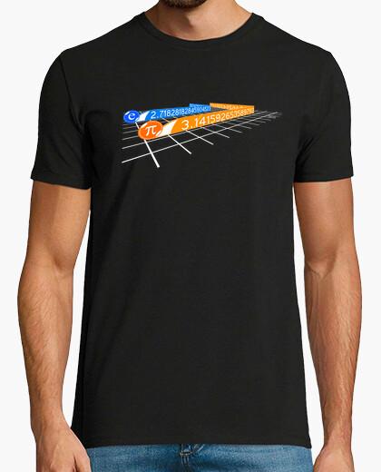 T-shirt pi e euler numero in tron