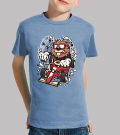t-shirt pilota del castoro della gioventù del cartoni animati