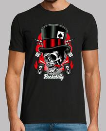 t-shirt poker biker skull rockabilly skulls rock n roll rockers player