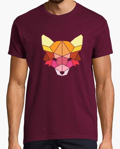T-shirt poligonale volpe colorata