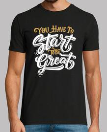 t-shirt positive lettere motivazionali lettere vintage