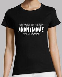 t-shirt pour la plupart des l'histoire était un wom anonyme