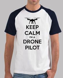 t-shirt pour les pilotes de drones: keep calm les essais