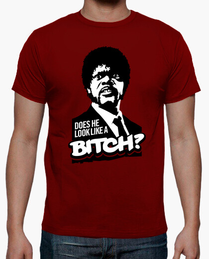 T-shirt Pulp Fiction: Does He Look Like a Bitch?