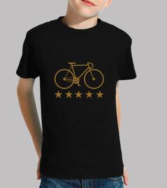 t-shirt radfahren - ein fahrrad - radfahrer