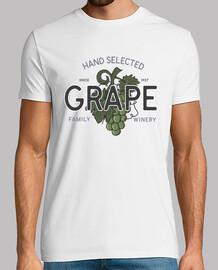 t-shirt raisin vin rétro vintage emblème