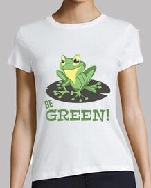 t-shirt rana essere verde