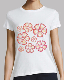 t-shirt red flowers