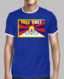 t-shirt retro a / b boy - free tibet