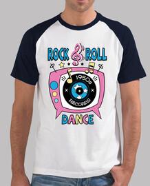 t-shirt retro années 1950 rock and roll dance party chaussette hop rock and roll musique vintage des