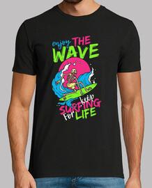 t-shirt rétro surf skulls surf skull