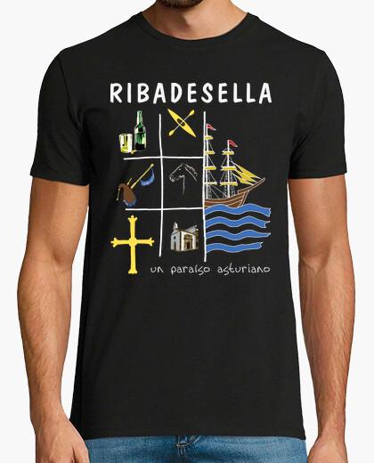 T-shirt ribadesella sfondo scuro - camicia...