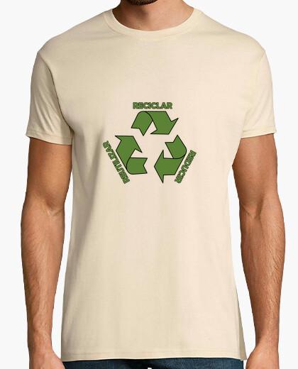T-shirt riciclare, ridurre, riutilizzare