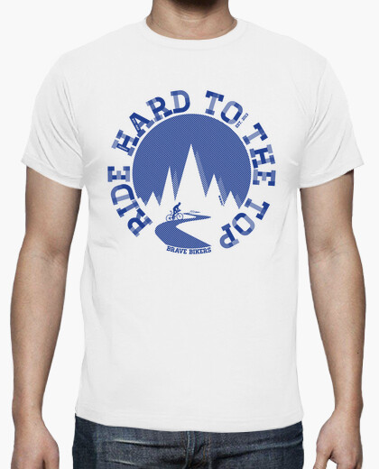 T-shirt ride hard per l'uomo di punta