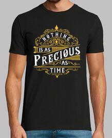 t-shirt rien n'est précieux comme style rétro message de temps