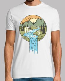 t-shirt rivers retro adventurous mountains