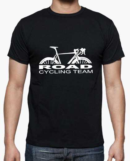T-shirt road cycling team blanc