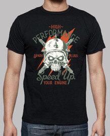 t-shirt rock biker chopper moto usa