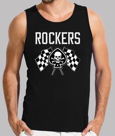 t-shirt rock rockers skull rockabilly bikers skulls rock n roll biker