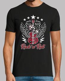 t-shirt rockabilly anni '50 rocker chitarre vintage