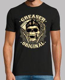 t-shirt rockabilly crânes rockers rétro