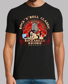 t-shirt rockabilly pinup rocker degli anni '50