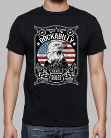 t-shirt rockabilly rockers drapeau USA regles rebelles