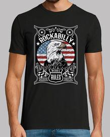 t-shirt rockabilly rockers usa bandiera ribelle rules