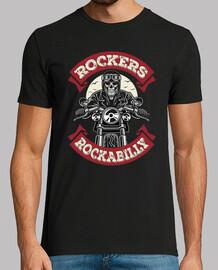 t-shirt rockabilly skull rocker biker