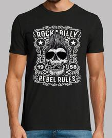 t-shirt rockabilly skulls vintage vintage anni '50