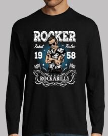 t-shirt rocker rockabilly 1958 rock vintage
