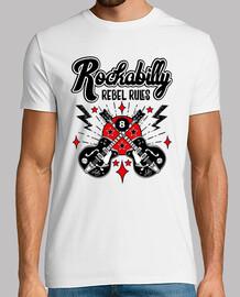 t-shirt rocker vintage chitarra vintage rockabilly rocker di musica usa rock e roll
